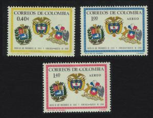 Colombia Visits of Chilean and Venezuelan Presidents 3v SG#1181-1183