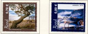 Aland Finland Sc  239-49  2005 Landscapes stamp set used