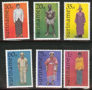 Suriname Scott 489-94 mnh** 1978 Costume set
