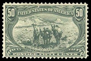 U.S. TRANS-MISS. ISSUE 291  Mint (ID # 89709)