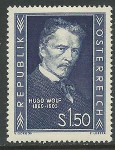 Austria # 587  Hugo Wolf, composer   (1) VF Unused  VLH