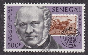 Senegal #  511, Sir Rowland Hill, Stamp on Stamp, NH, 1/2 Cat.
