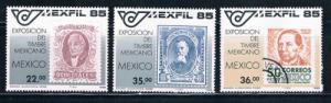 Mexico MNH set 1382-1384 Mexfil Stamps (ML0190)