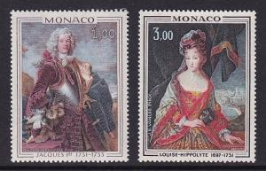 Monaco  #860-861   MNH  1972    Princes of Monaco