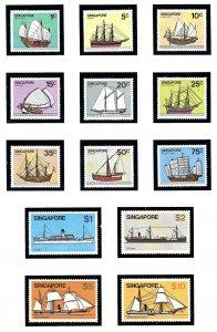 Singapore 336-48 MNH 1980 Sailing Ships