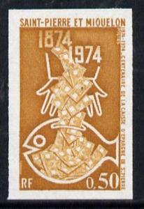 St Pierre & Miquelon 1974 Savings Bank (Fish) imperf ...