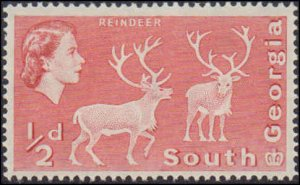 1967 South Georgia #1a, Complete Set, Perforation 14 x 15, Never Hinged