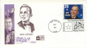 1994 Bing Crosby Popular Singers (Scott 2850) Artmaster FDC