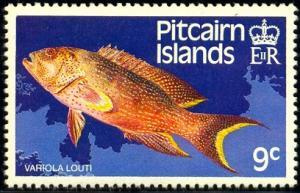 Fish, Yellow-edged Lyreta, Pitcairn Islands stamp SC#234 MNH