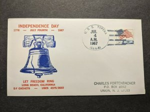 USS TOPEKA CLG-8 Naval Cover 1967 INDEPENDENCE DAY Cachet