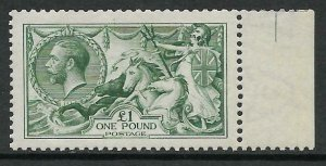 Sg 404 Spec N72(3) £1 Dull Blue-Green Waterlow Seahorse UNMOUNTED MINT