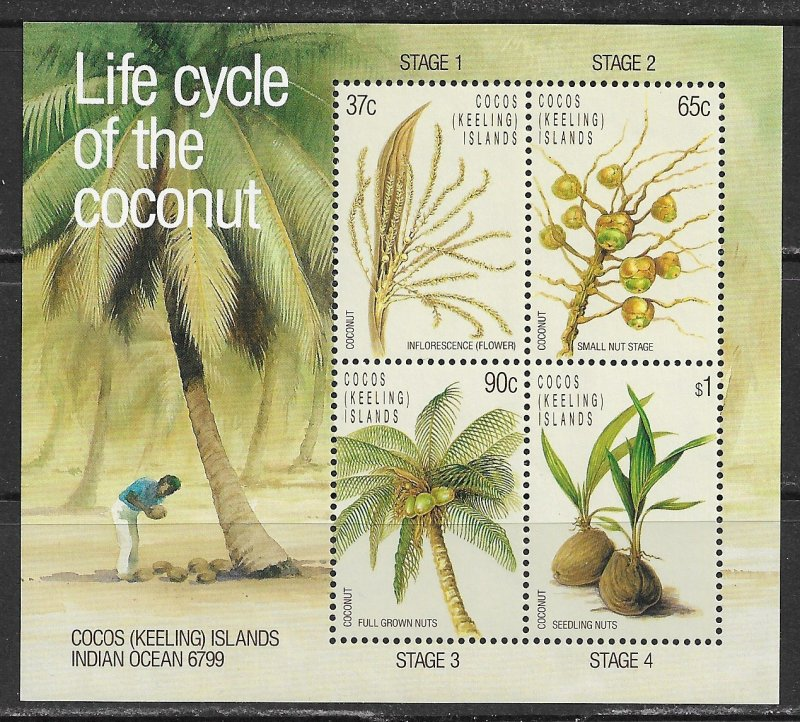 Cocos Islands ~ Scott # 176a ~ MNH ~ Life Cycle of the Coconut