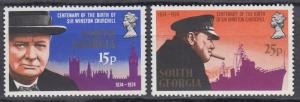 South Georgia - 1974 Winston Churchill Sc# 39/40 - MNH (432N)