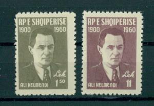 ALBANIA  60TH ANNIVERSARY OF ALI KELMENDI 1960  NH SET
