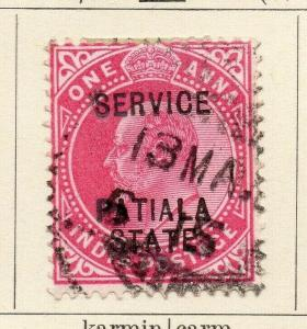 Patiala 1903-09 Early Issue Fine Used 1a. Optd 320091