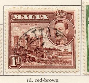 Malta 1938-43 Early Issue Fine Used 1d. 207362