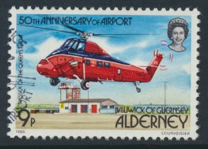 Alderney  SG A18  SC#  18  Aircraft Airport Used First Day Cancel - as per scan