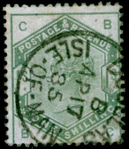 SG196, 1s dull green, FINE used, CDS. Cat £300. ISLE OF MAN. BC