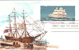 #UX107 Clipper Flying Cloud Weddle FDC