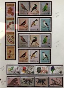 Zambia Topical collection Birds,Apes, Butterflies,FISH  Mint Never hinged $120.0