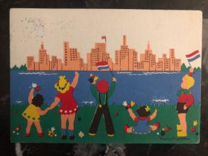 1946 Netherlands PostCard Cover Thank You to USA Child For Liberation