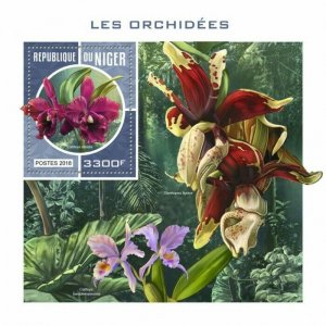 HERRICKSTAMP NEW ISSUES NIGER Orchids S/S