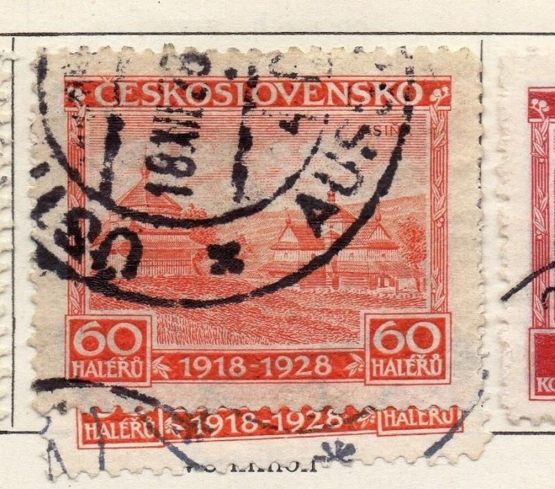 Czechoslovakia 1928 Early Issue Fine Used 60h. 097477