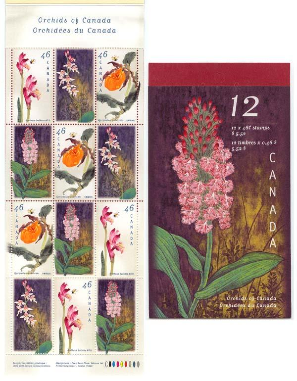 Canada - 1999 Orchids Complete Booklet #BK219b