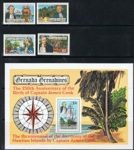 GRENADA GRENADINES 1978 250th ANNIVERSARY OF THE BIRTH OF CAPT COOK