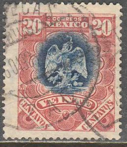 MEXICO 300, 20¢ EAGLE COAT OF ARMS. USED .VF. (192)