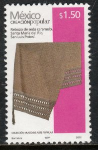 MEXICO 2490M, $1.50Pesos HANDCRAFTS 2018 ISSUE. MINT, NH. F-VF.