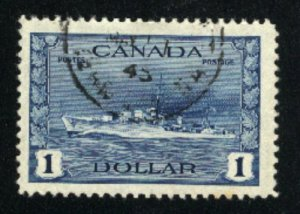 Canada #262   used   VF  PD