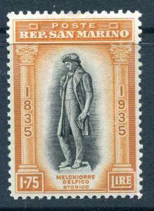 SAN MARINO #180 1.75l Statue of Delfico LH VF Scott $100