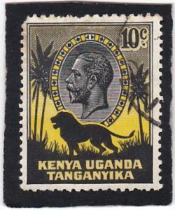 KENYA,  UGANDA  and TANGANYIKA  #  48  used