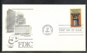 US #2071 FDIC Artmaster cachet unaddressed fdc