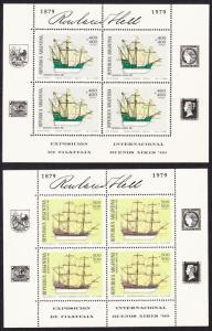 Argentina Ships 2 Sheetlets SG#1646-1647 MI#1405-14060 KB CV£50+