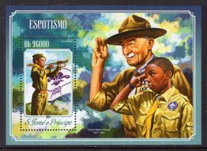Sao Tome and Principe 2773 Boy Scouts Souvenir Sheet MNH VF