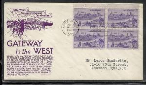 US #994 Kansas City Violet Anderson cachet addressed