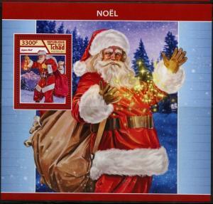 CHAD 2017  CHRISTMAS SANTA CLAUS  SOUVENIR SHEET MINT NH