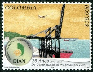 HERRICKSTAMP NEW ISSUES COLOMBIA Sc.# 1483 25 Years DIAN