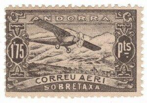 (I.B) Andorra Postal : Air Mail 1.75P