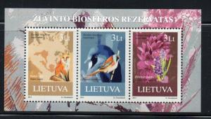 Lithuania Sc 990 2013 Zuvintas Nature Reserve stamp sheet NH