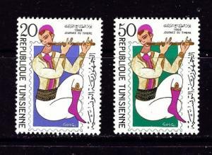 Tunisia 512-13 Lightly hinged 1968 Musician