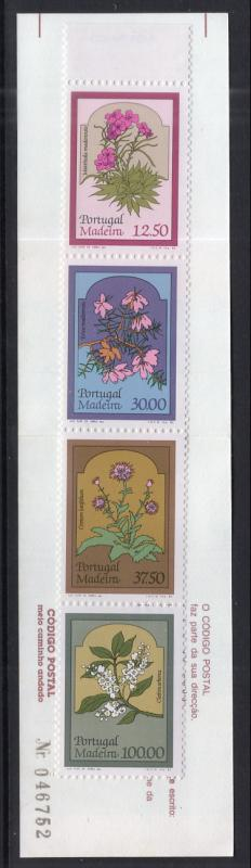 Madeira 93a Flowers Booklet MNH VF