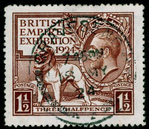 SG431, 1924 1½d brown, FINE USED, CDS. Cat £15.