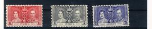 CYPRUS 1937 CORONATION #140-142 MNH