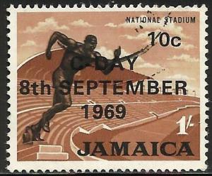 Jamaica 1969 Scott# 285 Used