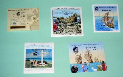 Bahamas - 5 MNH S/S. Discovery of America . SCV - $49.50