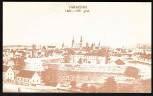 QSL QSO RADIO CARD Pic of Varzdin 1181-1981 god.,( Croatia) Yugoslavia (Q2652)