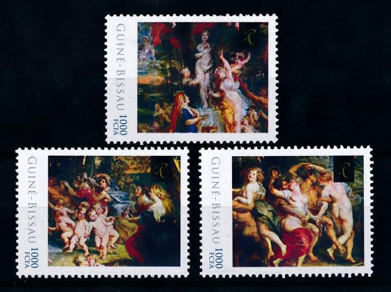 [75901] Guinea-Bissau 2012 Painting Rembrandt Feast of Venus  MNH